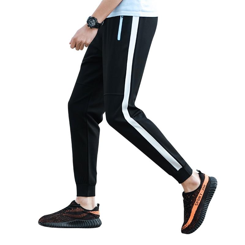 2018 Herbst Empfehlen Neue Auflistung Casual Mode Die Flut Koreanische Lose Jogger Streifen Hosen Heißer Schwarz Weiß Szie M-5xl