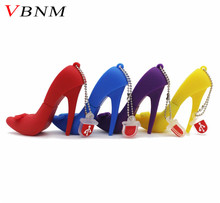 VBNM high-heeled shoes USB Flash Drive Memory U Disk 4g 8g 16g 32g Stick Gift Pendrive USB Creativo Gift for lady pen drive
