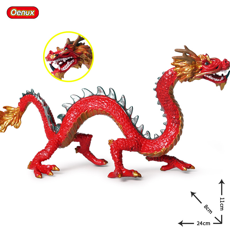 Image 4 - Oenux Original Simulation Chinese Dragon Phoenix Red Peacock Action Figures Bird Pvc Lifelike Figurines Education Kids Toy Gift-in Action & Toy Figures from Toys & Hobbies