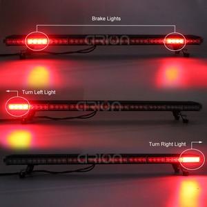 "Image 3 - 25"" to 63"" LED Strobe Light Bar Fireman Police Flashing Emergency Warning Car Truck lightbar Back W/ Brake Turn Lights Amber"