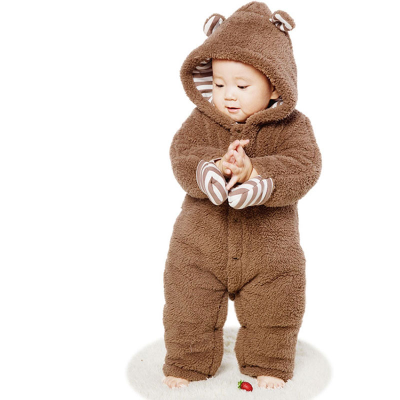 Newborn Baby Long Sleeve Rompers Toddler Girl Boy Autumn Spring Cotton Fleece Warm Clothing Fashion Outerwear Babies Jumpsuit newborn baby boy rompers autumn winter rabbit long sleeve boy clothes jumpsuits baby girl romper toddler overalls clothing
