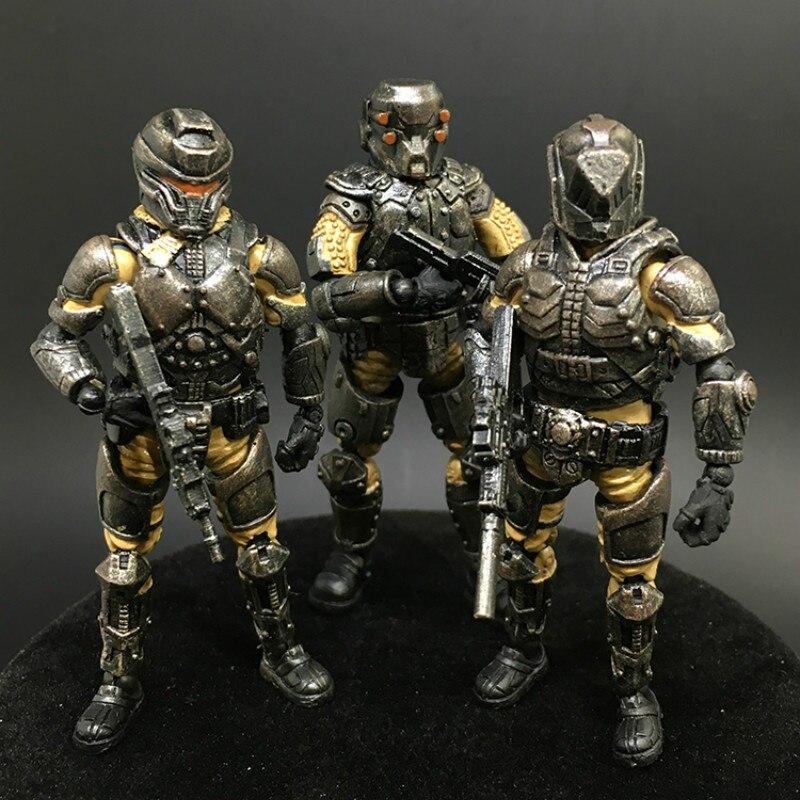 (3pcs/lot) JOYTOY Acid Rain Military 1:27 Steel Ride Corps