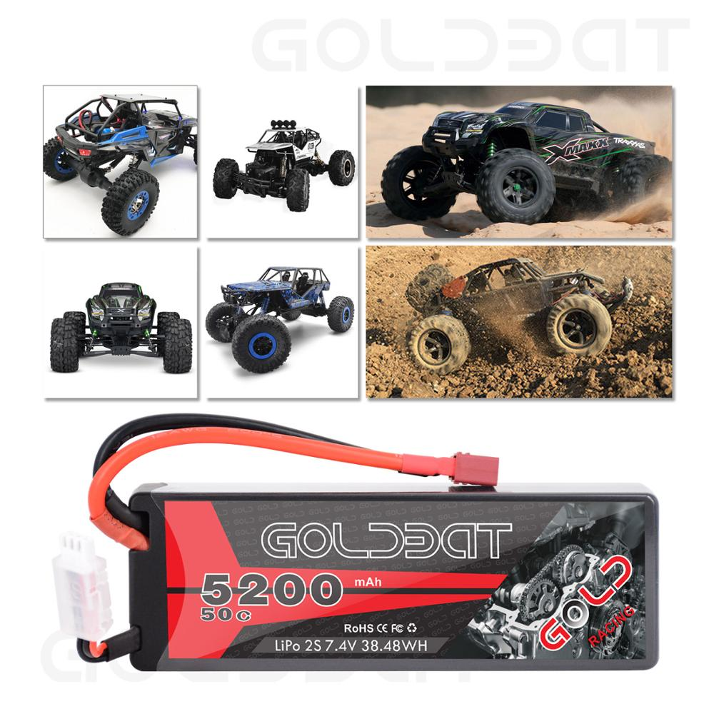 Image 3 - 2units GOLDBAT 5200mAh Lipo Battery 7.4V 50C 2S LiPo RC Battery with Deans Plug for RC Evader BX Car Truck Truggy Buggy Helicopt-in Parts & Accessories from Toys & Hobbies