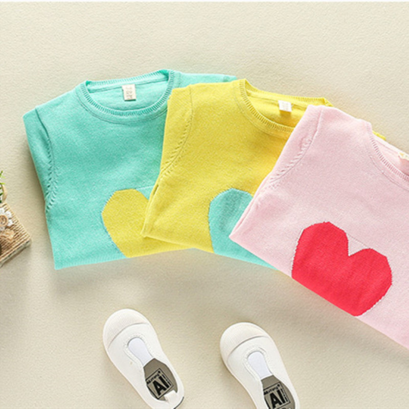 Funfeliz Sweater for Girls Cotton Solid Color Girls Sweaters 2018 Autumn Winter Knitwear Kids Pullover Children Cardigan 2T 8T in Sweaters from Mother Kids