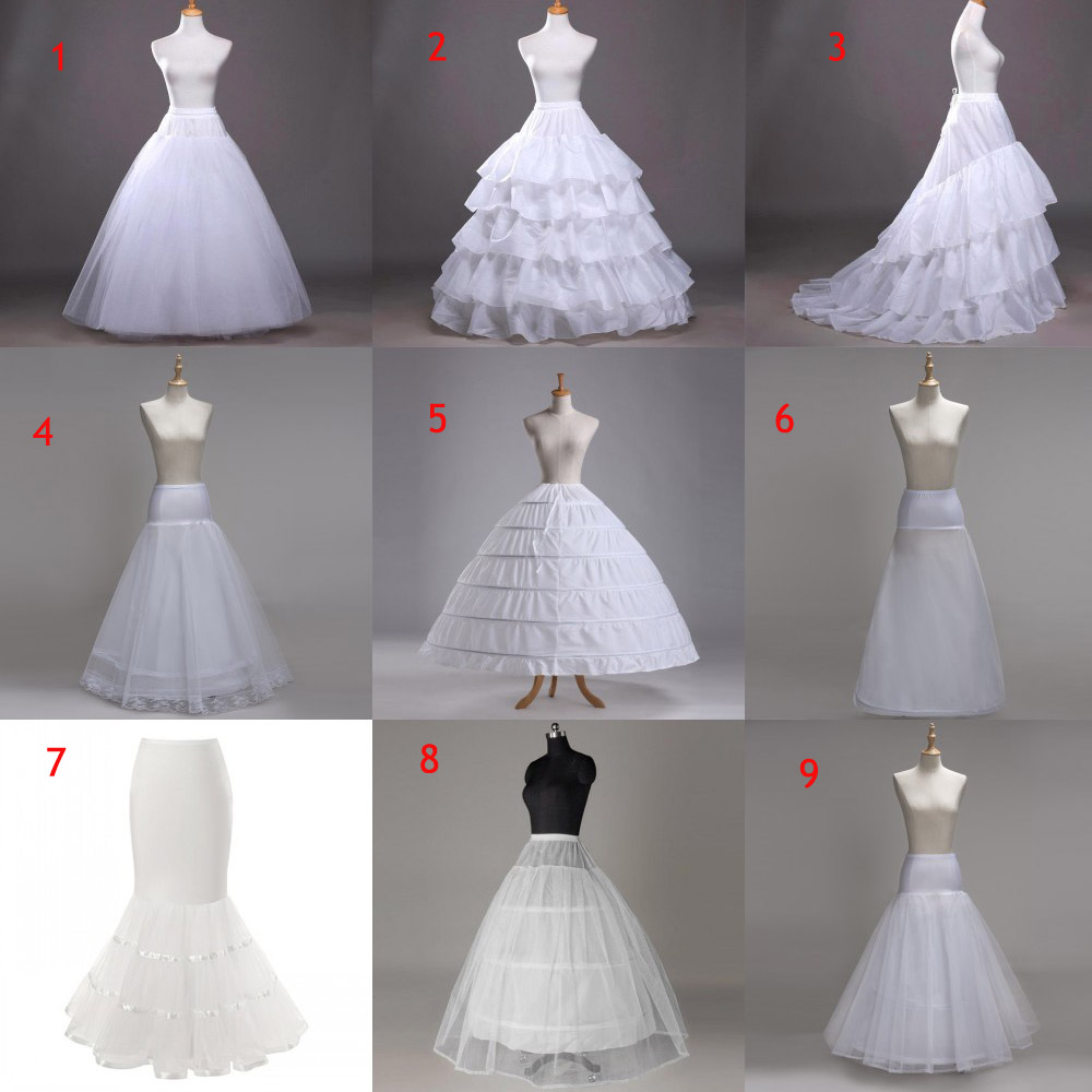 2019 Cheap Bridal Wedding Petticoat Hoop Crinoline Prom 9 Style Underskirt Fancy Skirt Slip Crinoline Bridal Wedding Accessories