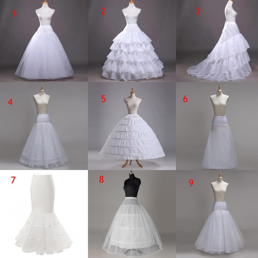2019 Cheap Bridal Wedding Petticoat Hoop Crinoline Prom 9 Style Underskirt Fancy Skirt Slip Crinoline Bridal Wedding Accessories