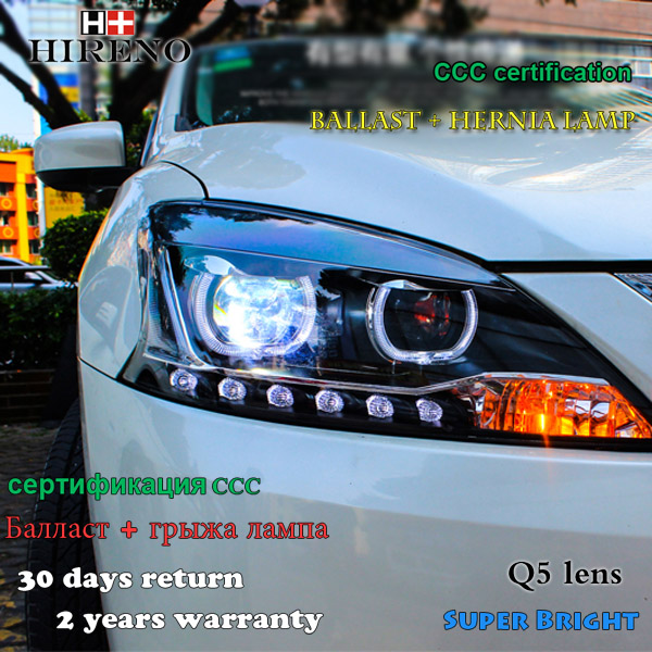 Hireno Headlamp for 2012-2014 Nissan Sentra Sylphy Headlight Assembly LED DRL Angel Lens Double Beam HID Xenon 2pcs купить