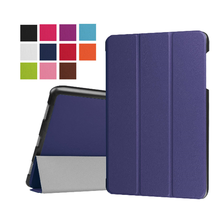 Folding Magnet Stand Case For Samsung Galaxy Tab E 9.6 T560 T561 Case Cover PU Leather 9.6 Case+Film+Stylus Pen