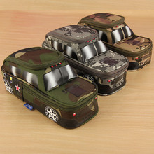 Pen Pouch Pencil Case For Boys Tank SUV Camouflage Cross-country Car Jeep Off-Roader Stationery Box With Coded Combination Lock