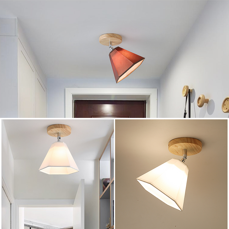 lowest price E27 Iron 5W Iron Ceiling Lamp Shade Pendant Light Covers and Shades Triangle Metal Ceiling Lampshades Not includ bulb