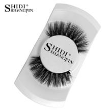 ФОТО shidishangpin 1 pair false eyelashes natural long 3d mink lashes hand made mink eyelashes 1cm-1.5cm makeup 3d false eyelashes