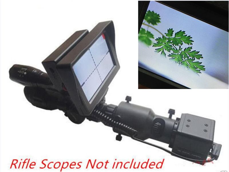 Day and night dual use Riflescope Add On DIY Night Vision Scope with LCD Screen and Laser Flashlight with 25mm Mount night and day