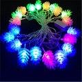220V 10M 50 LED High Quality Pine Cones Shape String Light Festival Fairy Lights for Christmas Wedding Garden Party Luminaria