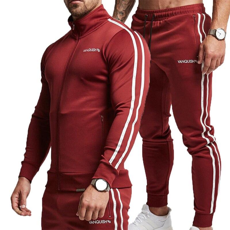 2019brand Brand Sporting Suit Men Suit Men Hoodies Sets Mens Gyms Sportswear Jogger Suit Male Tracksuit Sets