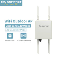 1200Mbps 48V PoE Outdoor AP CPE 802.11af at Dual Band 2.4G 5G Wireless Access Point WiFi Signal Booster 4*8db Detachable Antenna