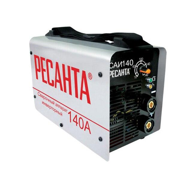 Аппарат сварочный инверторный РЕСАНТА САИ 140 (Диапазон тока от 10 до 140А, мощность 4400, диаметр электродов до 3.2 мм)