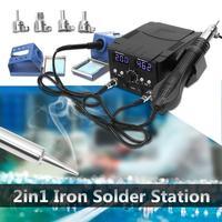 Promo 750 W 110 V LCD retrabajo Estación de soldadura 8582D calentador eléctrico de pistola de aire