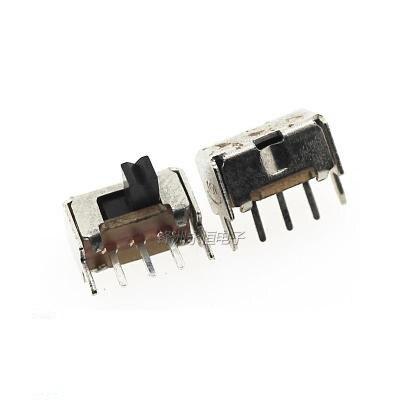 Тумблер SK12D07, 50 шт., 3-контактный PCB 2-позиционный 1P2T SPDT Миниатюрный скользящий переключатель, Боковая ручка SK12D07VG4