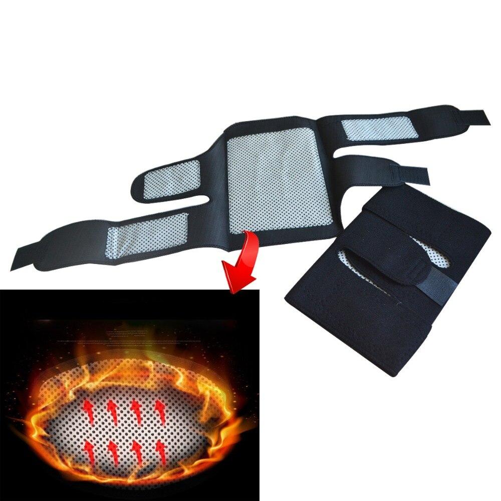 100 par/pack cinturón de turmalina autocalefactor rodillera terapia magnética rodilla soporte de turmalina cinturón calefactor masajeador de rodilla - 2