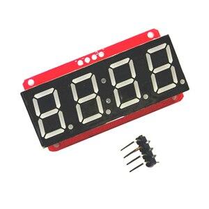 Image 3 - 4 cifre 7 Segmenti 0.56 Display A LED Tubo Decimale 7 Segmenti HT16K33 I2C Orologio Doppio Dots Modulo Per