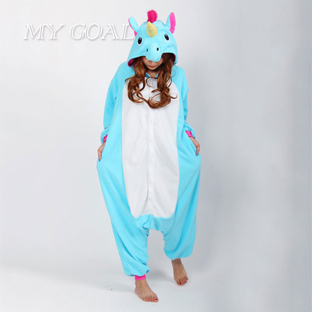 Adultos Unicorn Pijama Establece Pijamas de Las Mujeres de Dibujos Animados Unisex Cosplay Animal Pijamas para las mujeres ropa de Dormir