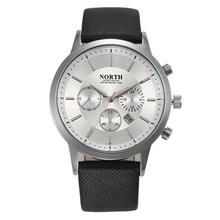 NORTH Brand 2016 Mens Watches Luxury Casual Military Quartz Sports Wristwatch Leather Strap Male Clock watch relogio masculino