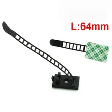 Free shipping CL1 64mm Cable Ties with paste and pore Self Locking Cable Zip Ties Cable
