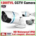Alta qualidade 1/3 de Cor CMOS 1200TVL IP66 À Prova D' Água de Segurança Ao Ar Livre Analógico Hd CCTV Camera 24 leds IR-CUT Infravermelho Visão noturna