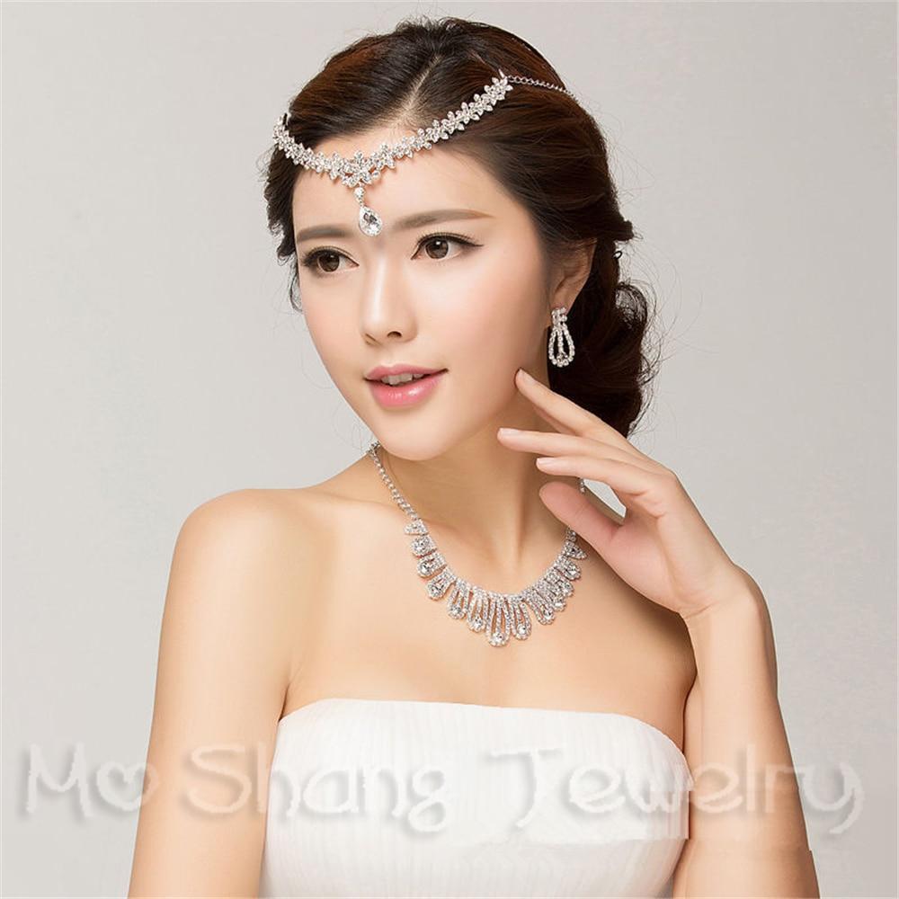 Rhinestone Forehead Bridal Hair Accessories 2018 Flower Wedding Hair Jewelry Tiaras Crowns For Brides Bridal Head Pieces