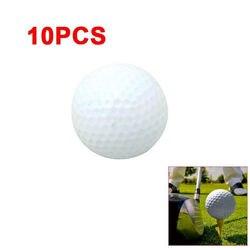 10 шт. белые мячи для гольфа из пенополиуретана для использования в помещении и на открытом воздухе тренировочные мячи для гольфа для заняти...