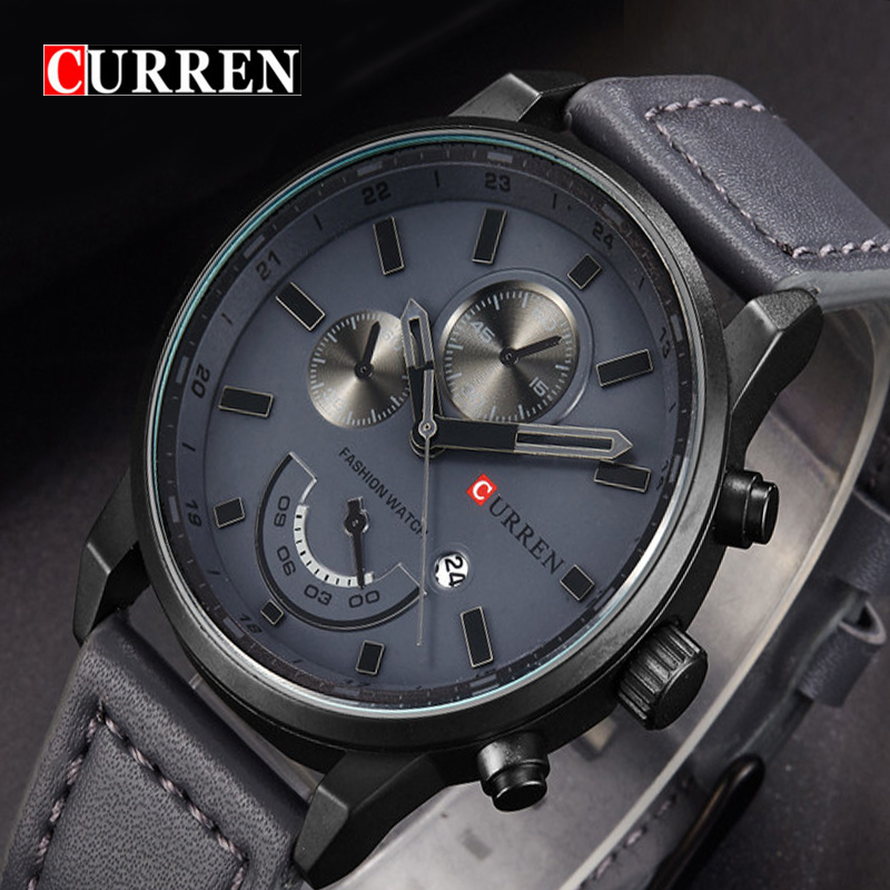 Curren 2017 Top Brand Luxury Quartz Watch Men Leather Mens Watches Fashion Casual Sport Clock Men Wristwatches Relogio Masculino 2017 new top fashion time limited relogio masculino mans watches sale sport watch blacl waterproof case quartz man wristwatches
