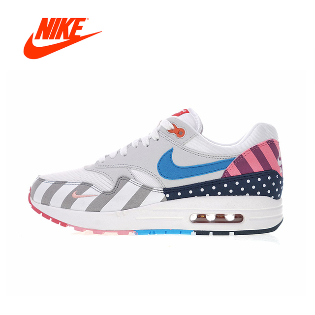 cheap for discount c10ff 4ea60 Original Authentic Piet Parra x Nike Air Max 1 White Multi Men s Running  Shoes Sneakers Outdoor Sports Designer Low Top AT3057