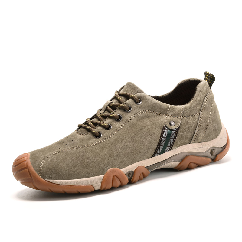 Genuine Leather Outdoor Shoes Men Sports Hiking Shoes Trainers Climbing Trekking Shoes Slip On Hiking Shoes Thick Warm Shoes in Hiking Shoes from Sports Entertainment