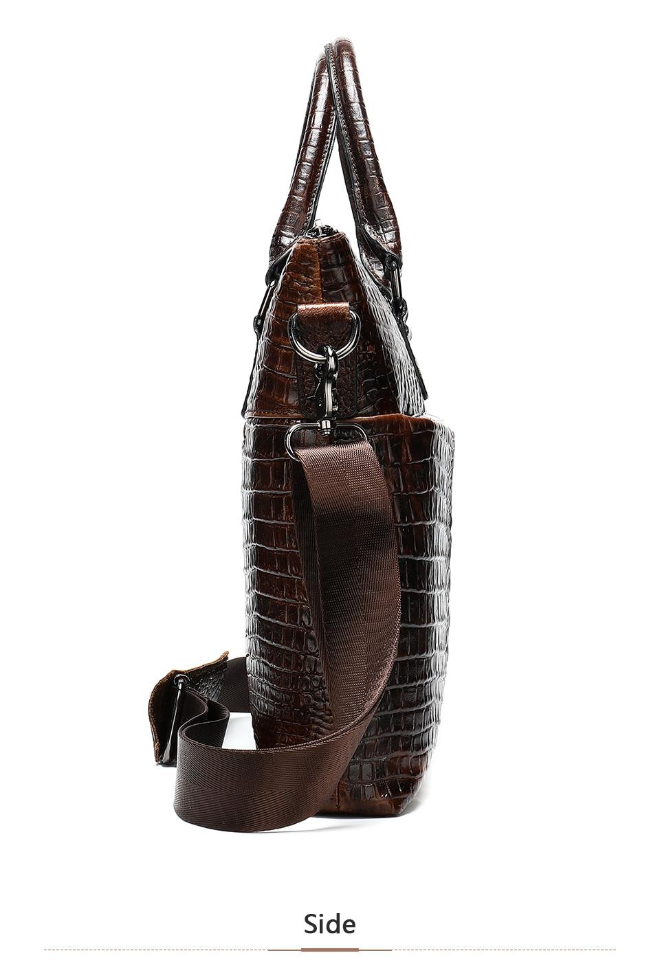HTB1bBfUe2WG3KVjSZPcq6zkbXXa5 WESTAL Men Briefcase Men's Bag Genuine Leather Office Bags for Men Laptop Bag Leather Briefcase Men Croco Design Computer Bags