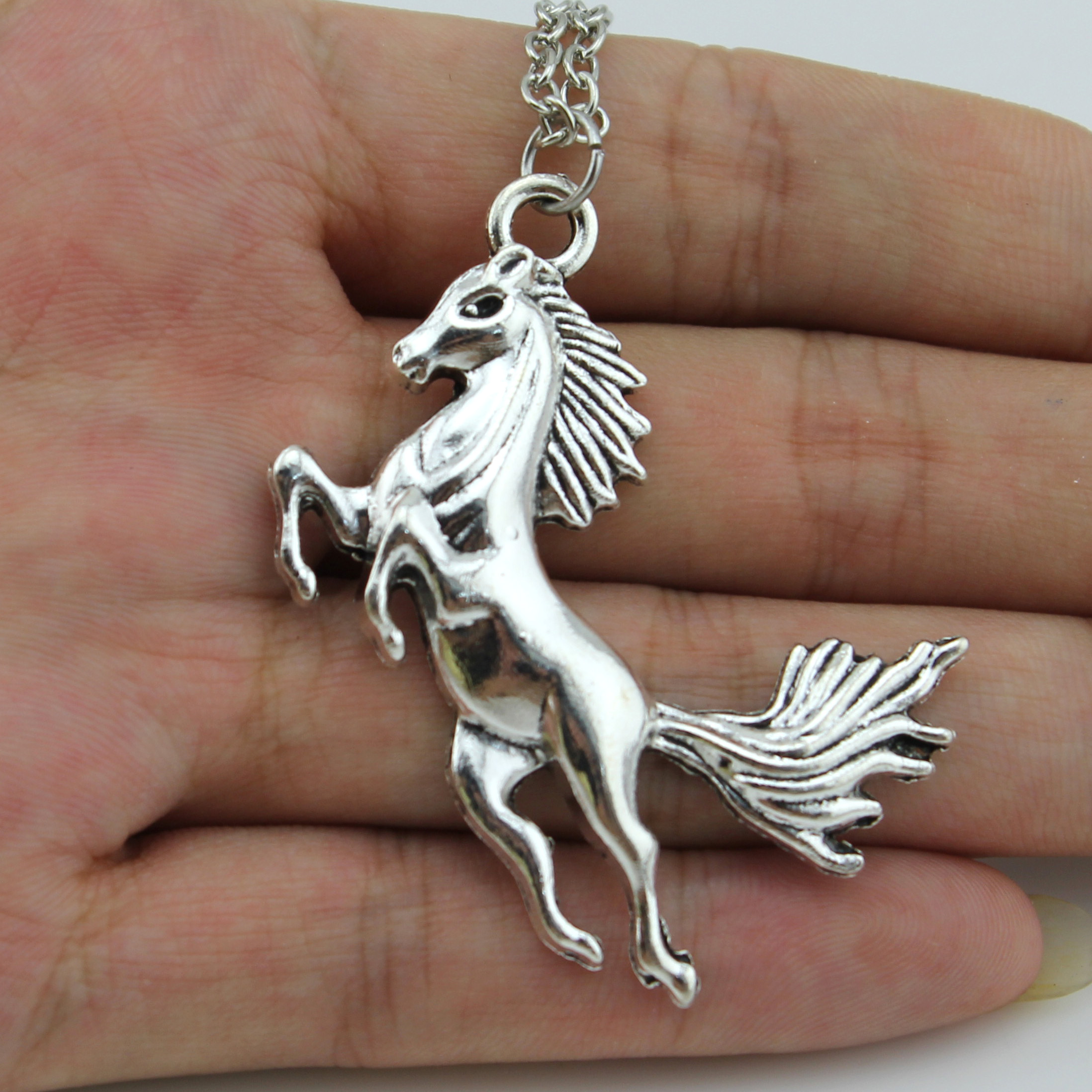 necklace animal jewelry with in pendant silver wings shaped original products horse unicorn large pegasus