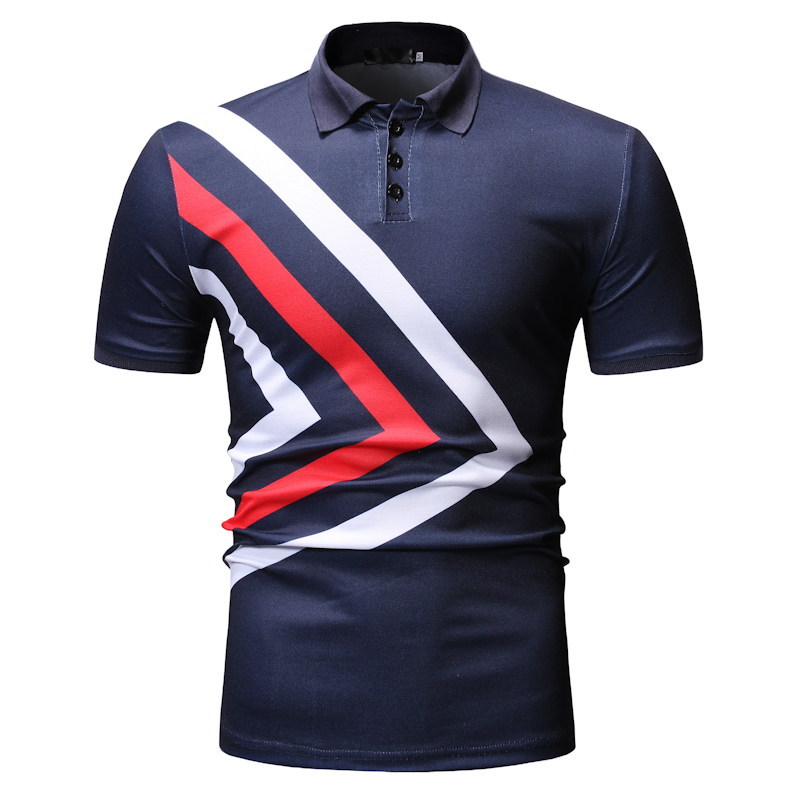 2019 new   polo   men's   POLO   shirt men's   Polo   brand shirt men's short-sleeved printed lapel shirt new summer men's clothing