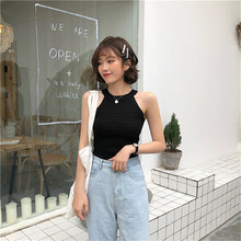 Susi & Rita Summer Camisole Blouse Top Women Sleeveless KNITTED T-SHIRT Straps 2019 Casual Base Top Sexy Bandage Cropped Tops Tank Top Haut Femme