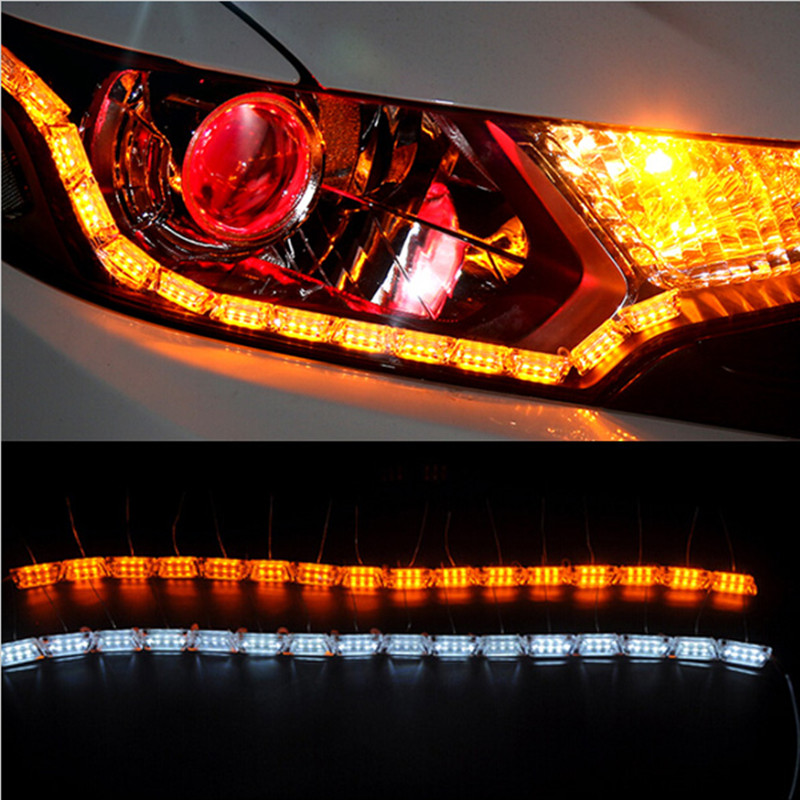 Free Shipping 2PCS 16 Groups  Crystal High Power Flexible LED Daytime Running Light Turning Light For Toyota Corolla Avensis