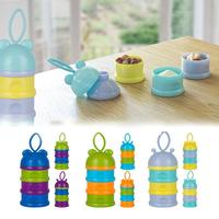 1 Set 3 Layer Portable Container Infant Snack Food Milk Feeding Powder Dispenser Bottle Baby Travel