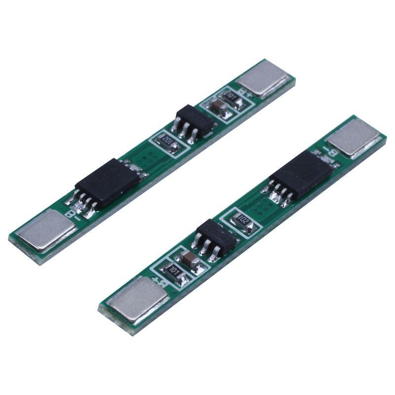 10 Uds 1 3,7 V 4A li-ion BMS PCM 18650 Placa de protección de batería PCB para 18650 de iones de litio de la batería de li doble MOS