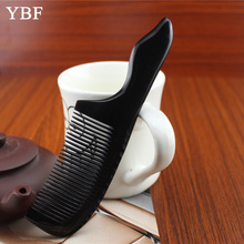 Pure handmade Black Buffalo ox Horn hair Combs Health Care Anti-static Beauty Make Up Fish Shape Massagem Brushes 2017 NEW Gift