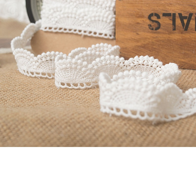 Hot sale Quality cotton 2cm edge soluble embroidery lace DIY craft materials M0203 in Lace from Home Garden