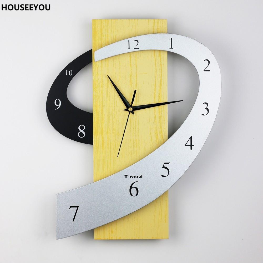 dcoration de la maison creative brve grande horloge murale moderne 3d mur horloges montre mdf