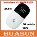 Original desbloqueado huawei r205 21.6 m 3g hotspot móvel wi-fi router hspa + wi-fi de bolso frete grátis