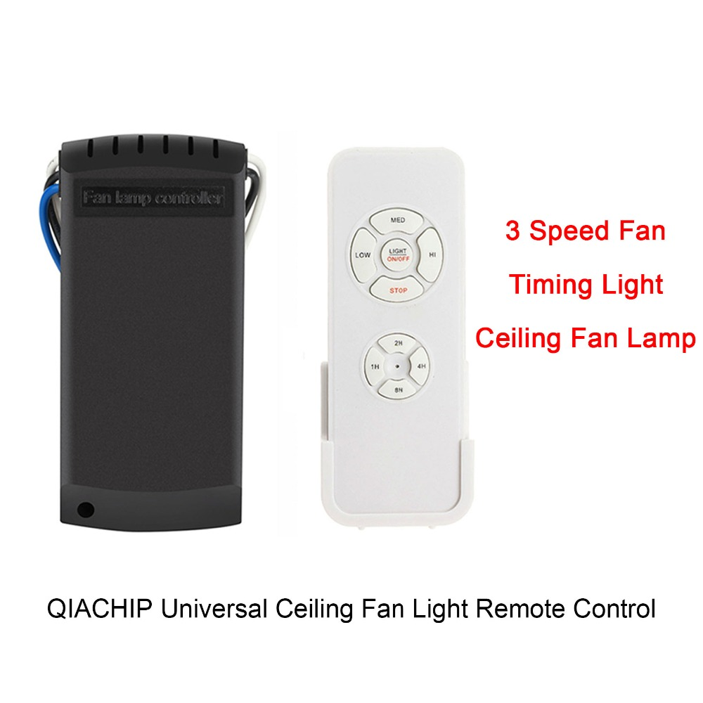 QIACHIP Universal Ceiling Fan Light Remote Switch 3 Speed Control Timing Light and Wireless Remote Controls For Ceiling Fan Lamp стоимость