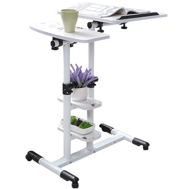F#8310 hh#Creative home Dening hanging design lazy bed desktop comter desk mobile rotary household seamless bedside table 250309 folding mobile small desk home bed with simple desk paint steel pipe humanized design lazy bedside laptop desk