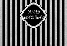 Laeacco Photography Background Stripes Black Happy Baby Birthday Party Poster Portrait Photographic Backdrops For Photo Studio