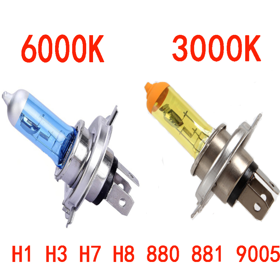 Car Halogen Bulb Light Fog Light Lamp H1 H3 H4 H7 H8 880 881 9005 9006 H11 DC 12V 100W Yellow / Spuer White Bulbs For all car