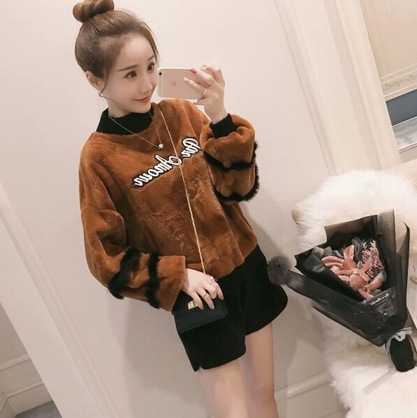 2018 Promotion Full Solid Acrylic New Brand Harajuku Cute Panda Sweatshirt For Women Spring Winter High Quality Pullover Tops