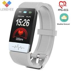 2020 gorąca sprzedaż inteligentny zegarek T1s ekg + PPG wodoodporny zegarek do Fitness Bluetooth z temperaturą ciała Smartwatch do biegania wspinaczka